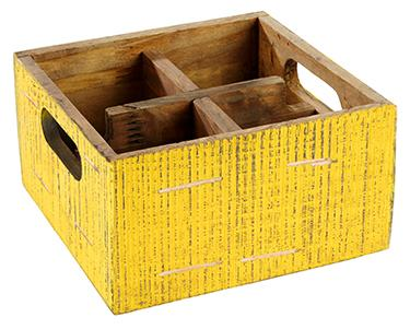 "Table Caddy ""VINTAGE"" 17 x 17 x 10 cm"