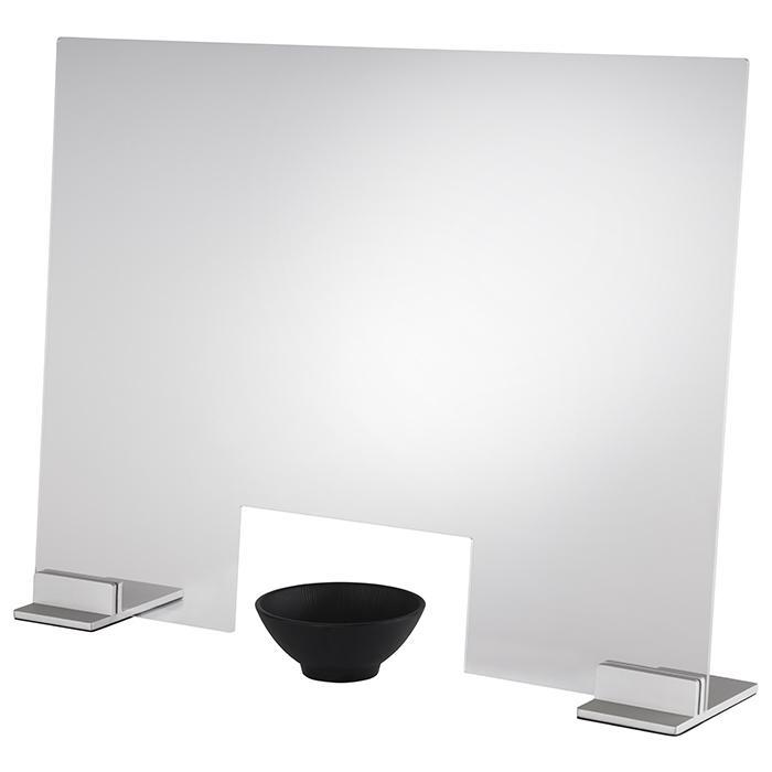 Hygieneschutzwand Transparent, Grau