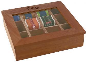 Teebox Transparent, Braun